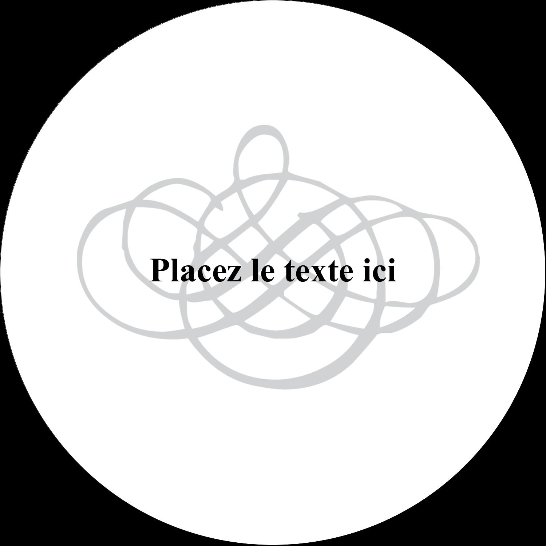 Monogramme de mariage Étiquettes rondes gaufrées - gabarit prédéfini. <br/>Utilisez notre logiciel Avery Design & Print Online pour personnaliser facilement la conception.