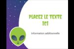 Fête d'extraterrestres Étiquettes rondes gaufrées - gabarit prédéfini. <br/>Utilisez notre logiciel Avery Design & Print Online pour personnaliser facilement la conception.