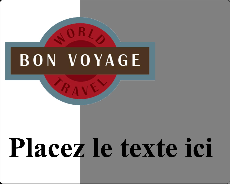 """3"""" x 3¾"""" Étiquettes rectangulaires - Voyage d'antan"""