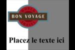 Voyage d'antan Étiquettes rectangulaires - gabarit prédéfini. <br/>Utilisez notre logiciel Avery Design & Print Online pour personnaliser facilement la conception.