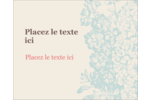 Fleur bleue Étiquettes rectangulaires - gabarit prédéfini. <br/>Utilisez notre logiciel Avery Design & Print Online pour personnaliser facilement la conception.