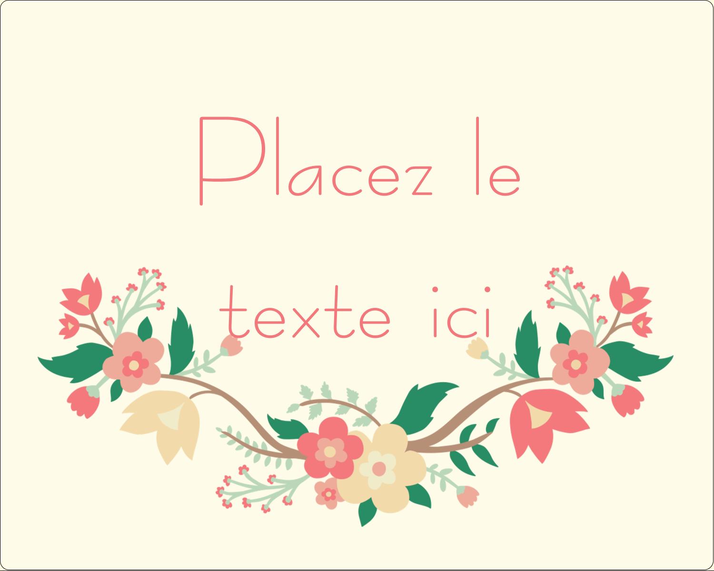 """2"""" Diameter Étiquettes rondes gaufrées - Couronne florale"""