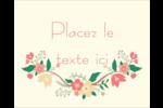 Couronne florale Étiquettes rondes gaufrées - gabarit prédéfini. <br/>Utilisez notre logiciel Avery Design & Print Online pour personnaliser facilement la conception.