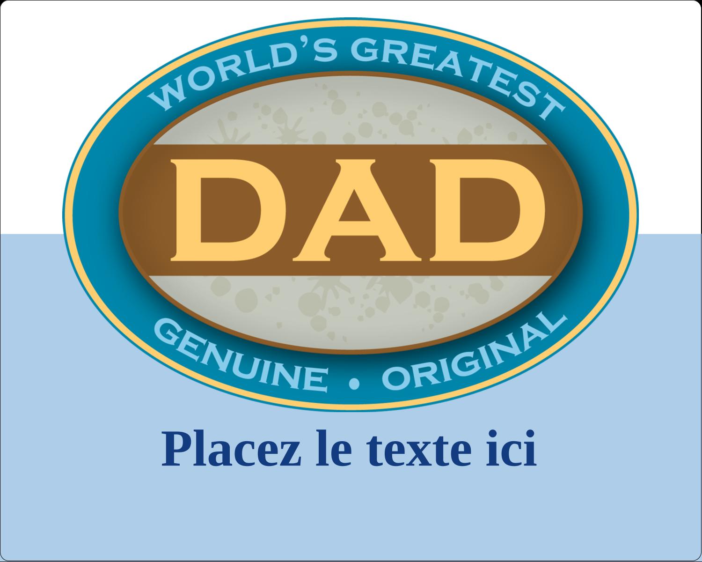 """3"""" x 3¾"""" Étiquettes rectangulaires - Le meilleur papa"""