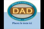 Le meilleur papa Étiquettes rectangulaires - gabarit prédéfini. <br/>Utilisez notre logiciel Avery Design & Print Online pour personnaliser facilement la conception.
