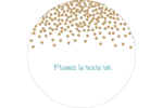 Lumières dorées Étiquettes rondes - gabarit prédéfini. <br/>Utilisez notre logiciel Avery Design & Print Online pour personnaliser facilement la conception.