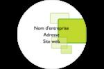 Carrés verts arrondis Étiquettes rondes - gabarit prédéfini. <br/>Utilisez notre logiciel Avery Design & Print Online pour personnaliser facilement la conception.