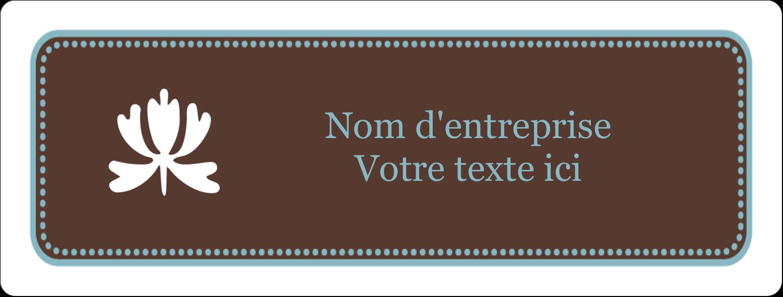 """1"""" x 4"""" Étiquettes d'adresse - Bordure en brun et bleu"""