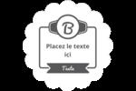Logo simple Étiquettes rondes - gabarit prédéfini. <br/>Utilisez notre logiciel Avery Design & Print Online pour personnaliser facilement la conception.