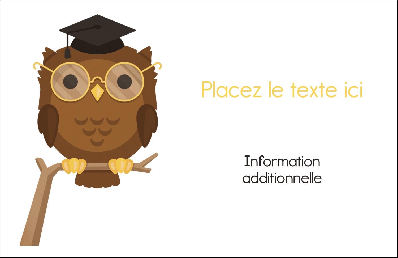 """8½"""" x 11"""" Cartes Et Articles D'Artisanat Imprimables - Hibou et diplôme"""