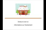 Maison en pain d'épices Badges - gabarit prédéfini. <br/>Utilisez notre logiciel Avery Design & Print Online pour personnaliser facilement la conception.