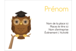 Hibou et diplôme Badges - gabarit prédéfini. <br/>Utilisez notre logiciel Avery Design & Print Online pour personnaliser facilement la conception.
