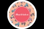 Patins à roulettes Étiquettes arrondies - gabarit prédéfini. <br/>Utilisez notre logiciel Avery Design & Print Online pour personnaliser facilement la conception.
