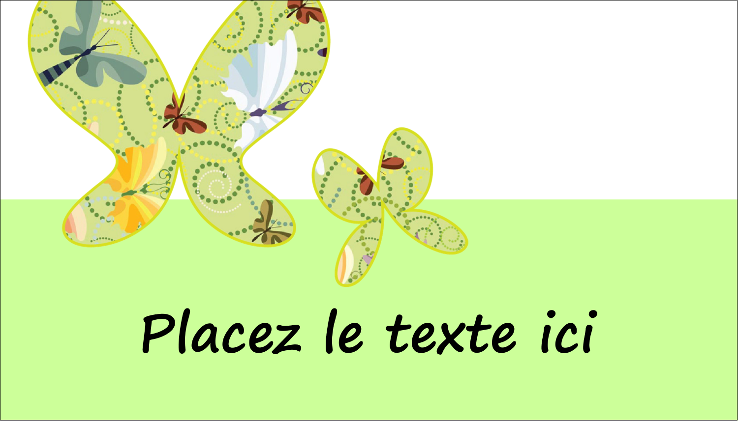 "2"" x 3½"" Carte d'affaire - Deux papillons"