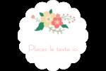 Couronne florale Étiquettes festonnées - gabarit prédéfini. <br/>Utilisez notre logiciel Avery Design & Print Online pour personnaliser facilement la conception.