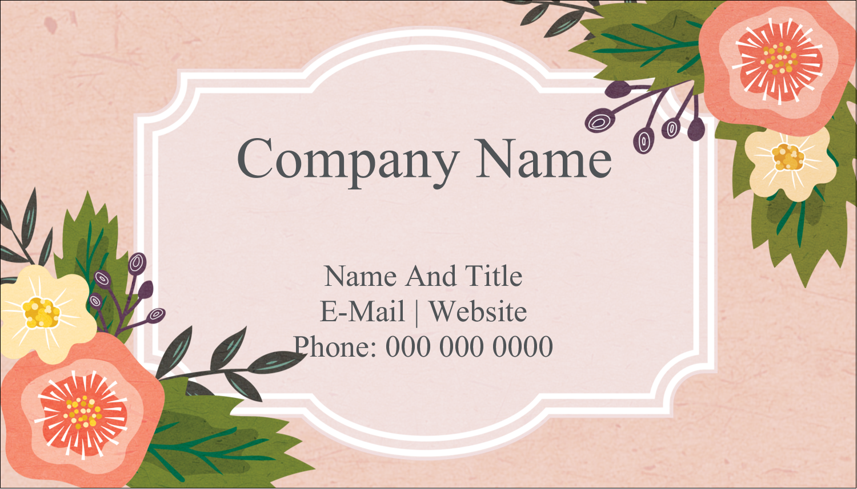 "2"" x 3½"" Business Card - Fifties Floral"
