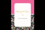 Fleurs modernes Carte Postale - gabarit prédéfini. <br/>Utilisez notre logiciel Avery Design & Print Online pour personnaliser facilement la conception.