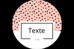 Jolis pois Étiquettes rondes - gabarit prédéfini. <br/>Utilisez notre logiciel Avery Design & Print Online pour personnaliser facilement la conception.