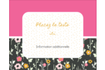 Fleurs modernes Étiquettes rondes gaufrées - gabarit prédéfini. <br/>Utilisez notre logiciel Avery Design & Print Online pour personnaliser facilement la conception.
