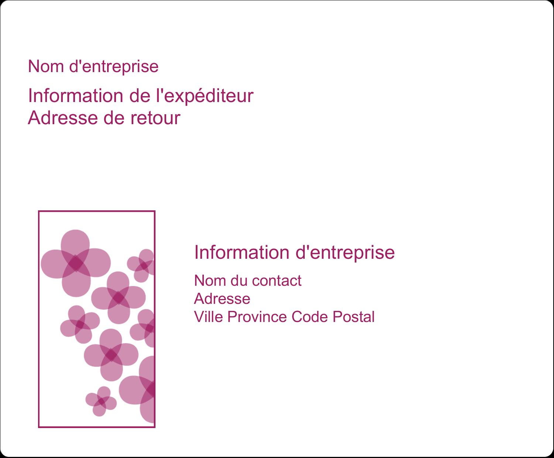 """3⅓"""" x 4"""" Étiquettes d'expédition - Fleurs violettes"""