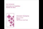 Fleurs violettes Étiquettes d'expédition - gabarit prédéfini. <br/>Utilisez notre logiciel Avery Design & Print Online pour personnaliser facilement la conception.