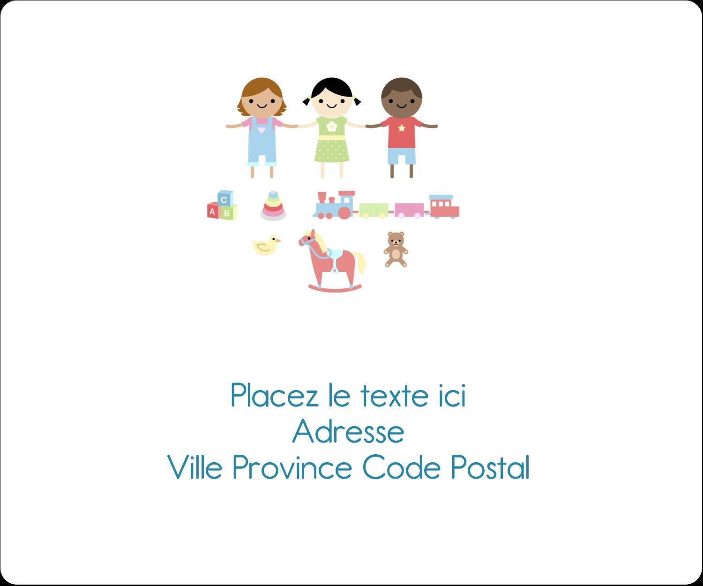 """½"""" x 1¾"""" Étiquettes D'Adresse - Éducation et préscolaire"""