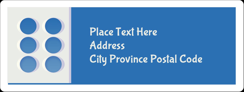 "1"" x 2⅝"" Address Label - 4th Floor"