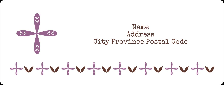 "1"" x 2⅝"" Address Label - Geometric Lavender Blossoms"