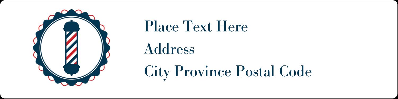 "1"" x 4"" Address Label - Barber Pole Bold"