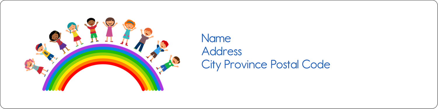 "1"" x 4"" Address Label - Childcare Education"