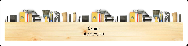 "1"" x 4"" Address Label - Carpentry"