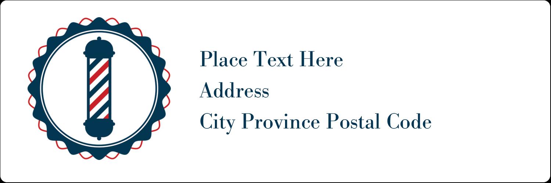 "1⅓"" x 4"" Address Label - Barber Pole Bold"