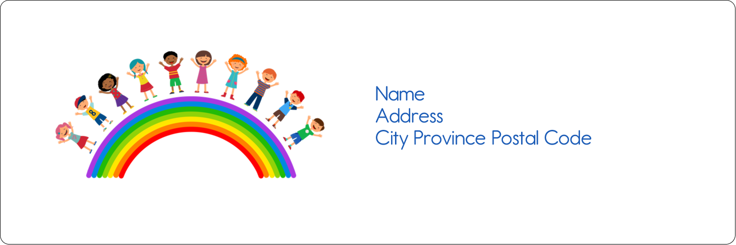 "1⅓"" x 4"" Address Label - Childcare Education"