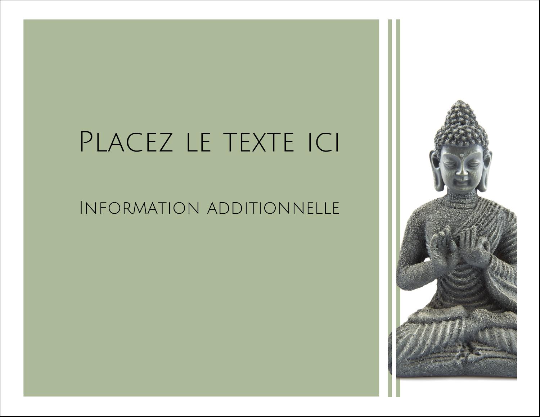 """2"""" x 3½"""" Carte d'affaire - Bouddha"""