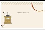 L'heure du café Cartes Et Articles D'Artisanat Imprimables - gabarit prédéfini. <br/>Utilisez notre logiciel Avery Design & Print Online pour personnaliser facilement la conception.