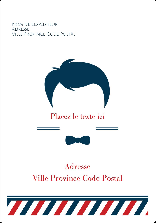 """⅔"""" x 1¾"""" Étiquettes D'Adresse - Salon de barbier"""