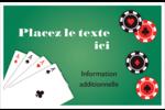 Partie de poker Cartes Et Articles D'Artisanat Imprimables - gabarit prédéfini. <br/>Utilisez notre logiciel Avery Design & Print Online pour personnaliser facilement la conception.