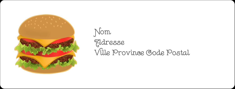 """1"""" x 4"""" Étiquettes d'adresse - Hamburger"""