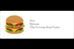 Hamburger Étiquettes d'adresse - gabarit prédéfini. <br/>Utilisez notre logiciel Avery Design & Print Online pour personnaliser facilement la conception.