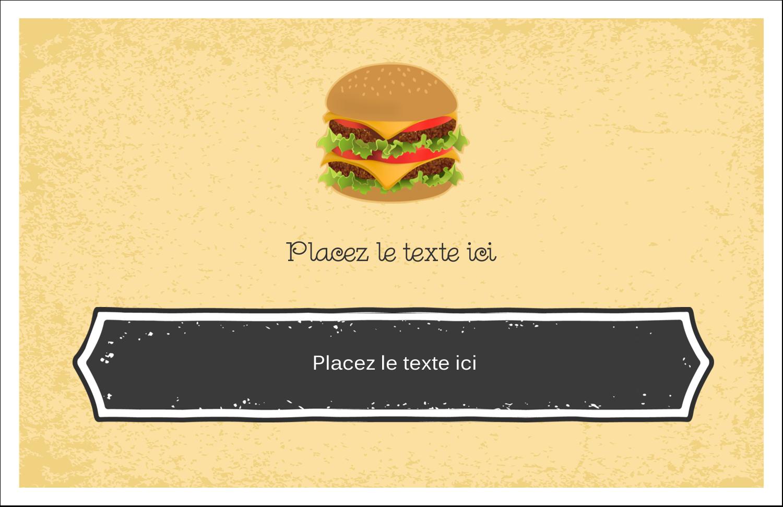 "8½"" x 11"" Cartes Et Articles D'Artisanat Imprimables - Hamburger"