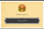 Hamburger Cartes Et Articles D'Artisanat Imprimables - gabarit prédéfini. <br/>Utilisez notre logiciel Avery Design & Print Online pour personnaliser facilement la conception.