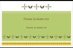 Fleurs vertes géométriques Cartes Et Articles D'Artisanat Imprimables - gabarit prédéfini. <br/>Utilisez notre logiciel Avery Design & Print Online pour personnaliser facilement la conception.