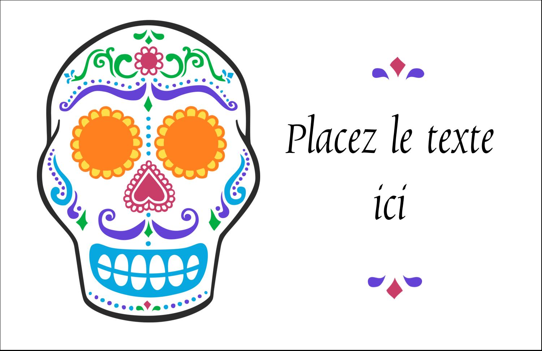 """8½"""" x 11"""" Cartes Et Articles D'Artisanat Imprimables - Le jour du Crâne"""