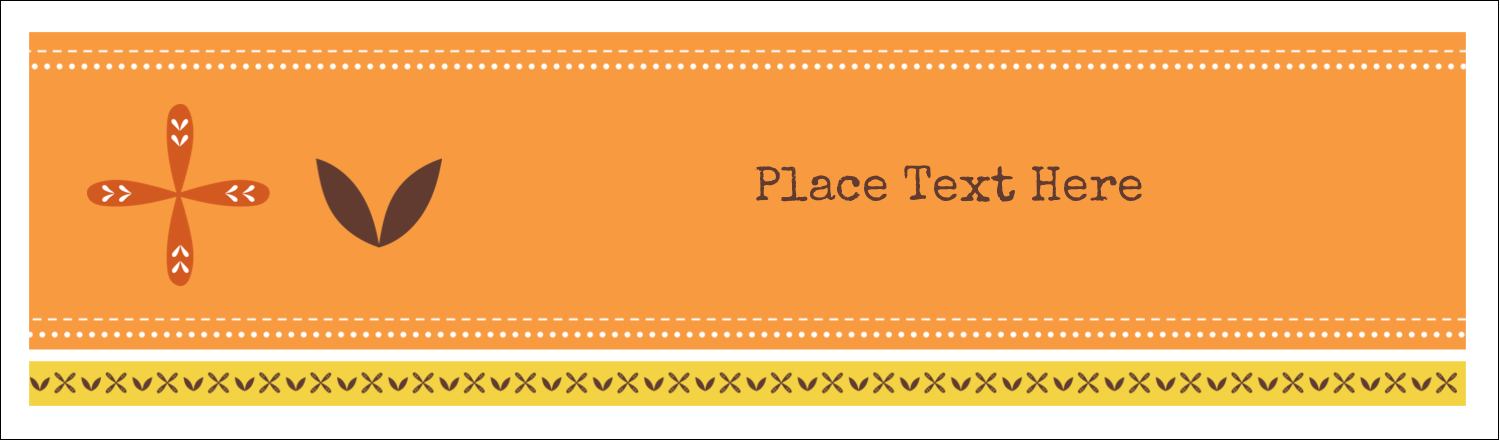"2½"" x 8½"" Tent Card - Geometric Orange Blossoms"
