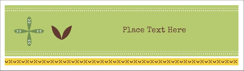 "2½"" x 8½"" Tent Card - Geometric Green Blossoms"