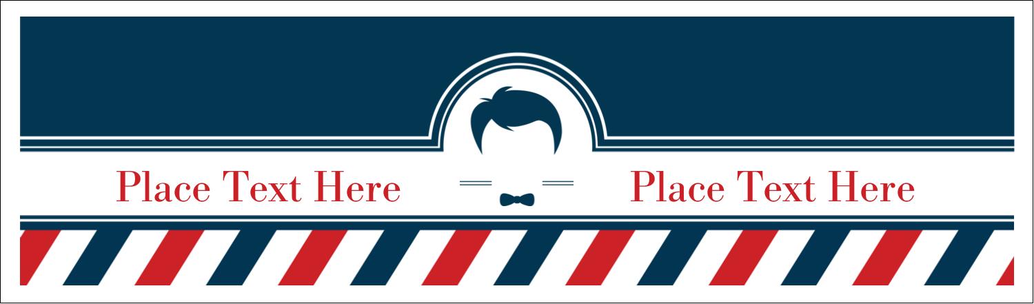 "2½"" x 8½"" Tent Card - Barber Shop"