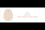 Œuf de Pâques de couleur bronze Intercalaires / Onglets - gabarit prédéfini. <br/>Utilisez notre logiciel Avery Design & Print Online pour personnaliser facilement la conception.