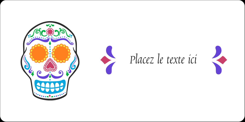 """3-7/16"""" x ⅔"""" Étiquettes de classement écologiques - Le jour du Crâne"""