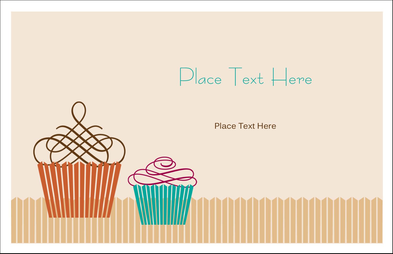 "5½"" x 8½"" Greeting Card - Cupcake"