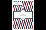 Enseigne de barbier audacieuse Étiquettes d'expéditions - gabarit prédéfini. <br/>Utilisez notre logiciel Avery Design & Print Online pour personnaliser facilement la conception.
